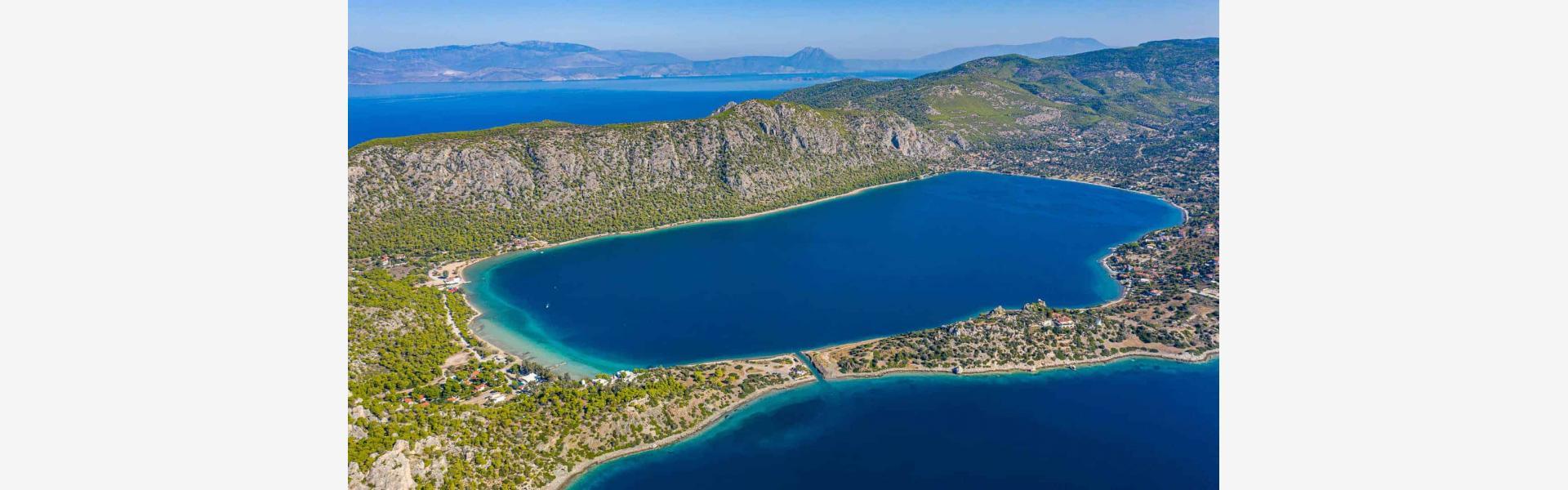 Λιμνοθάλασσα Ηραίου πανοραμική