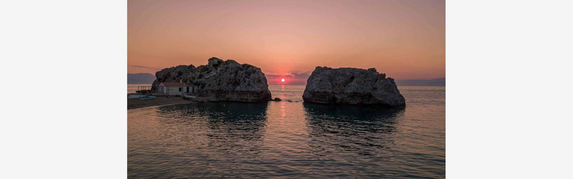Μυλοκοπή ηλιοβασίλεμα