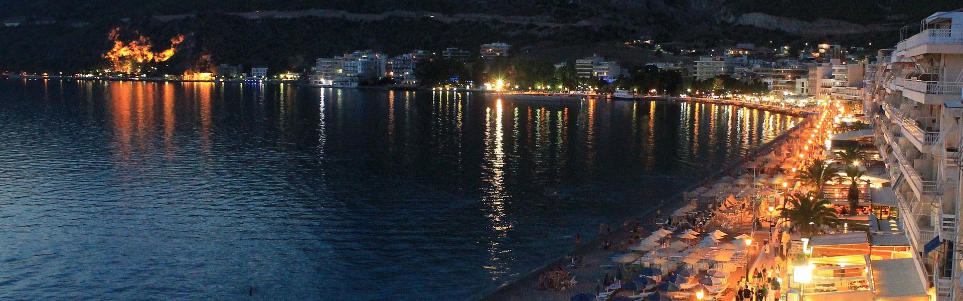 Loutraki night view