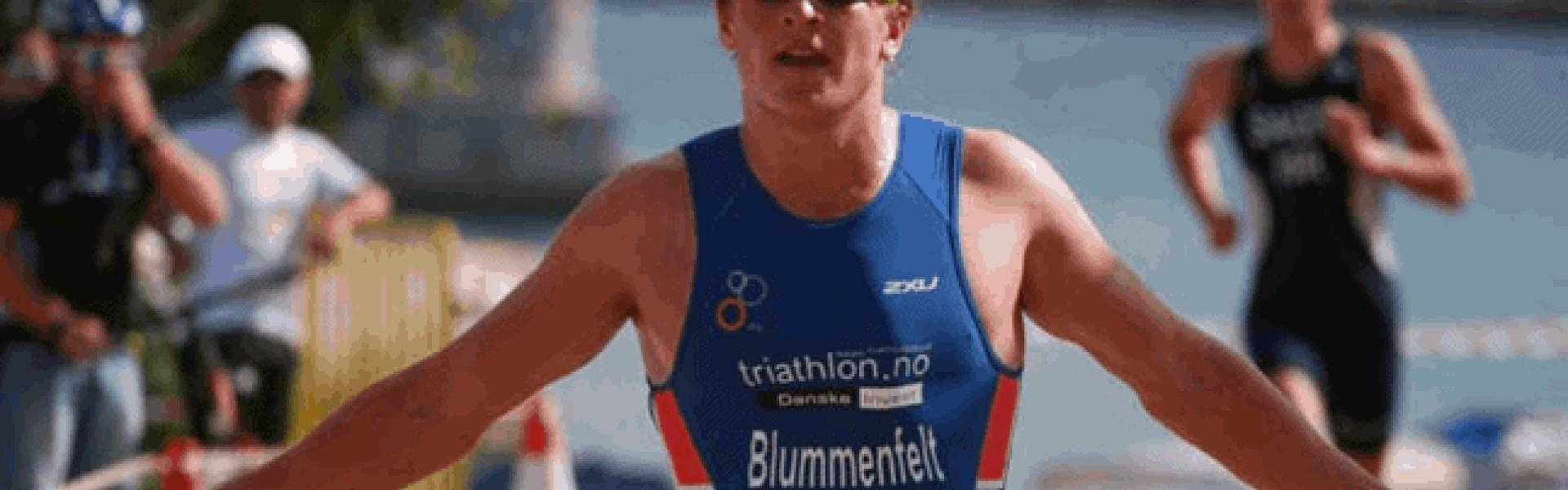 Runner - finish line