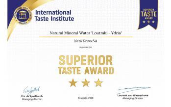 Superior Taste Award Ydria