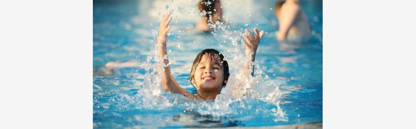 Kids water playing