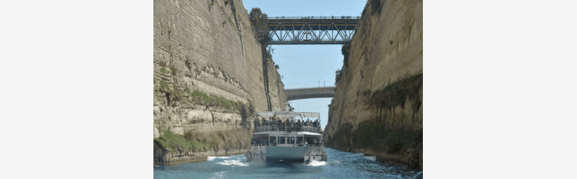 Canal of Isthmus in Corinth